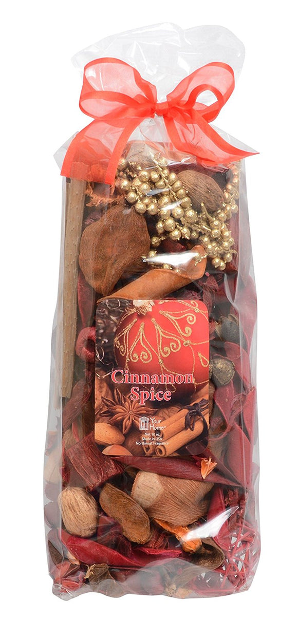 Potpourri Cinnamon Spice Scented Bowl and Vase Filler for Holiday and Christmas Decorating