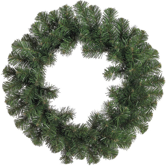 "SilksAreForever 18"" Artificial Windsor Pine Hanging Wreath -Green (Pack of 6)"