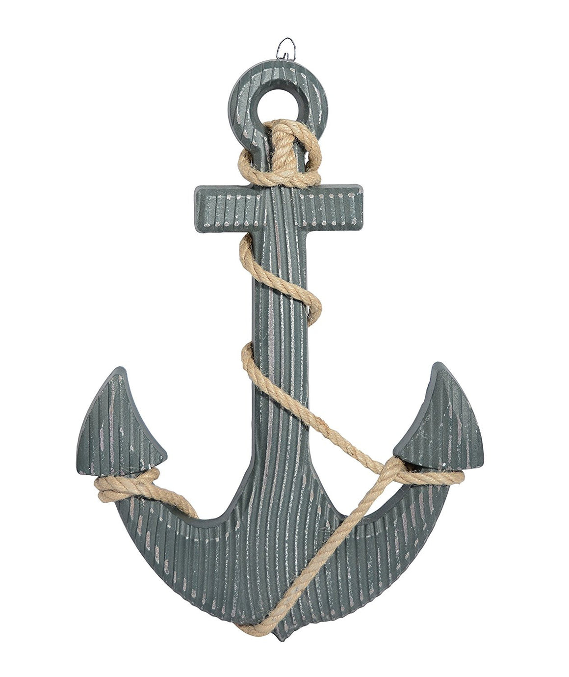 18 Inch Wood Look Boat Anchor With Crossbar