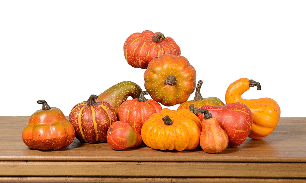 Artificial Gourds and Pumpkins- Fall Bowl Filler