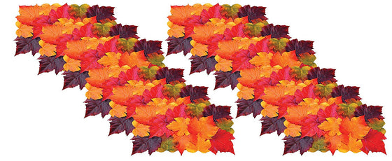 Ten Waterloo Fall Leaves Placemat Set of 12-11 Inches x 17 Inches - Thanksgiving Artificial Maple Leaf Place Mats