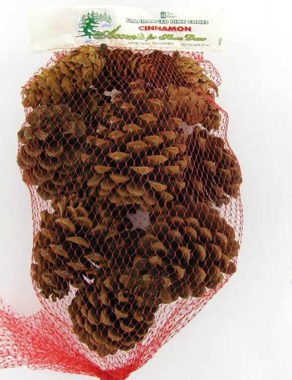 Cinnamon Scented Pinecones 12 Ounce Bulk Bag