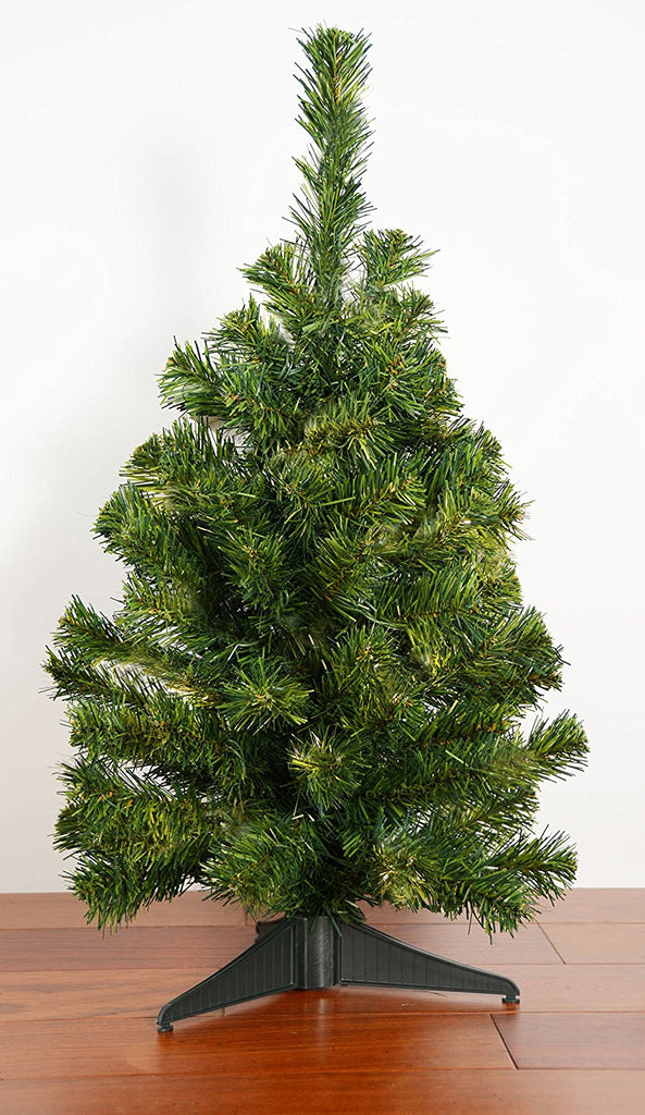 24 Inch Norway Pine Tree - 2 Foot High Tabletop Christmas Pine Tree
