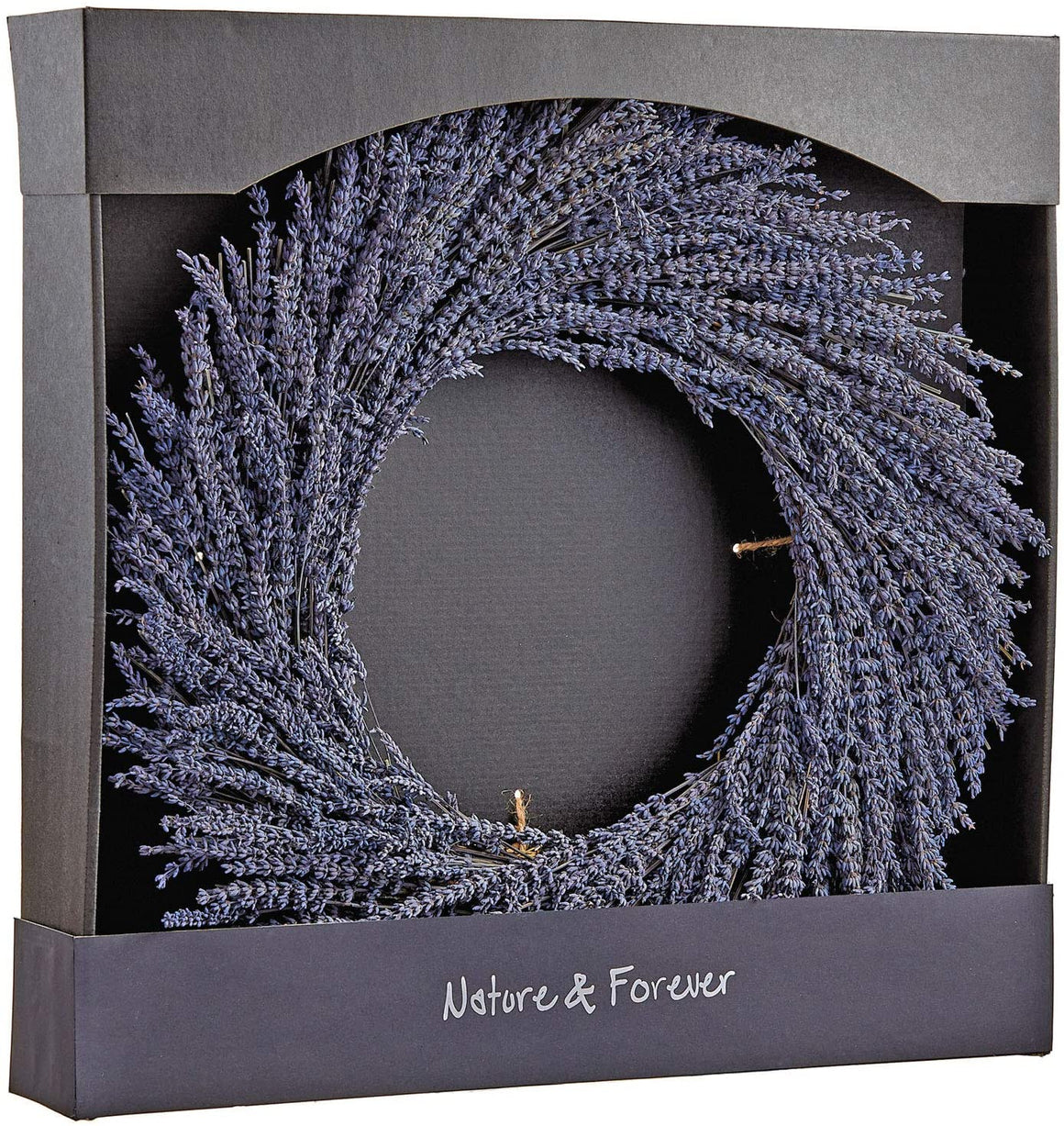 21 Inch Preserved Lavender Natural Wreath, Fragrant Real Lavender Front Door Wreath