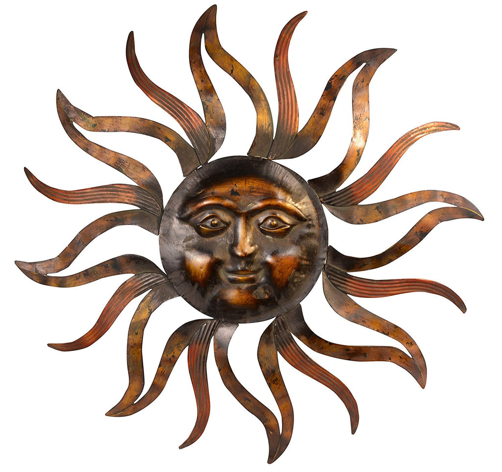 35 Inch Large Metal Sun Wall Decor Sculpture