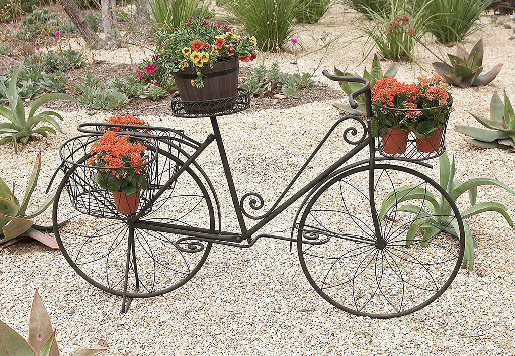 Aspire Home Accents Metal Bicycle Garden Planter