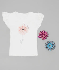 Interchangeable Flower Ruffle Top