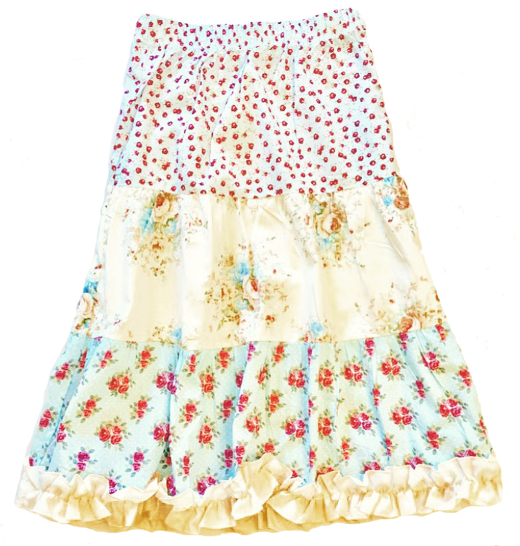 Mi Amore Gigi Long Floral Peasant Skirt