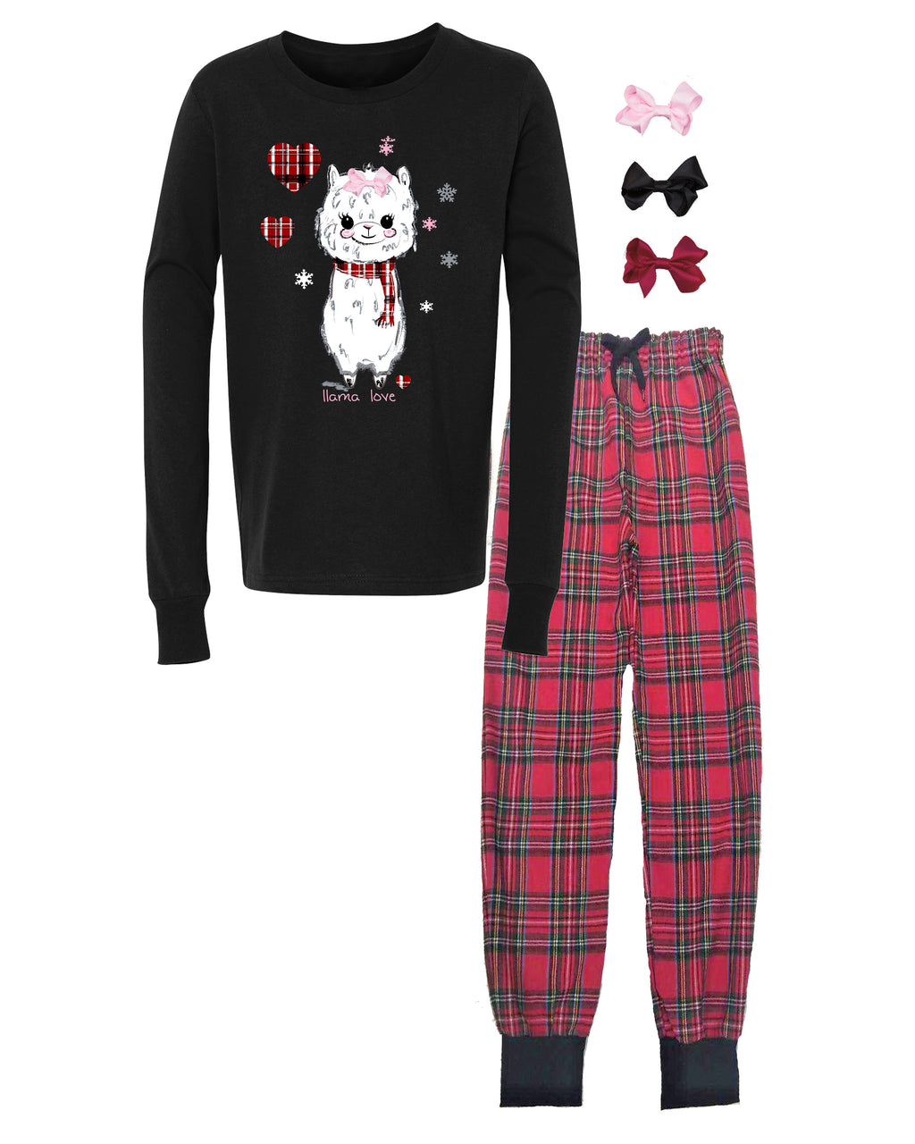 Mi Amore Gigi Interchangeable Llama Bow Pajama Set