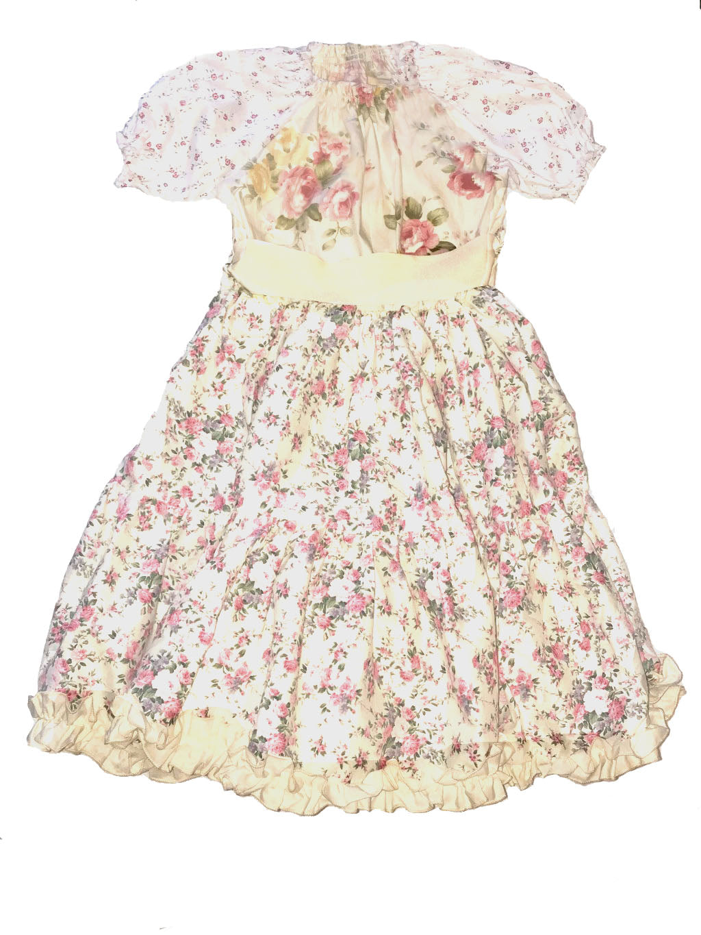 Floral Smock Peasant Dress