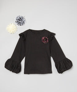 Mi Amore Gigi Flower Interchangeable Double Ruffle Top