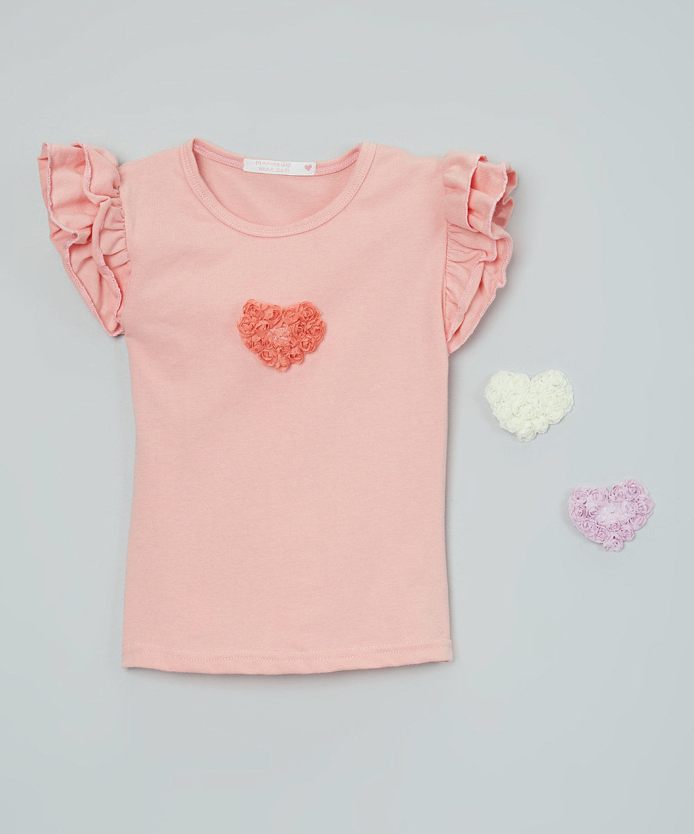Mi Amore Gigi Heart Ruffled Top