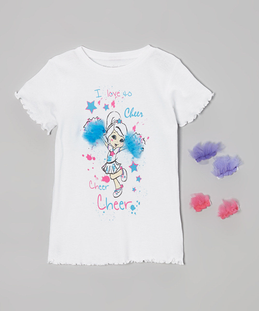 Mi Amore Gigi Cheer Interchangeable Pom Poms Top