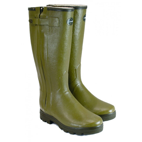 Le Chameau Chasseur Fouree Zipped Wellington Boots - Wildstags.co.uk