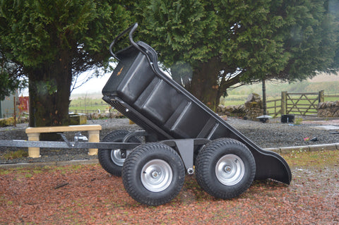 ATV 4 Wheel Tipping Trailer - Wildstags.co.uk