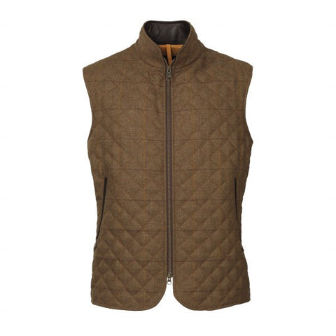Laksen Firle Quilted Tweed Vest - Wildstags.co.uk