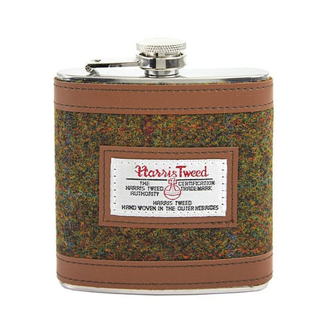 British Belt Company Harris Tweed Hip Flask - Wildstags.co.uk