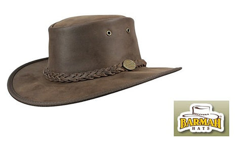 Barmah Bronco Australian Leather Bush Hat - Wildstags.co.uk