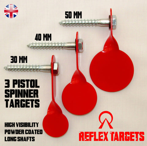 "Reflex Metal Targets ""3 Super Spinners"" - Wildstags.co.uk"