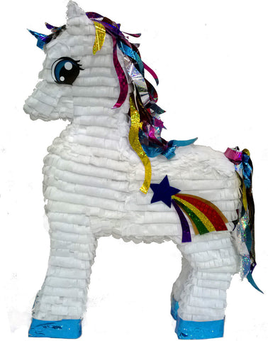 Large Premium White Unicorn Pinata