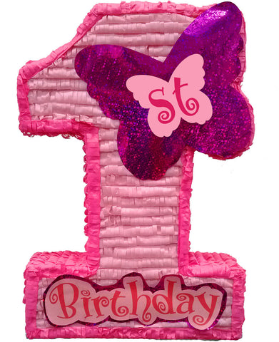 Large Premium First Birthday Pink Pinata
