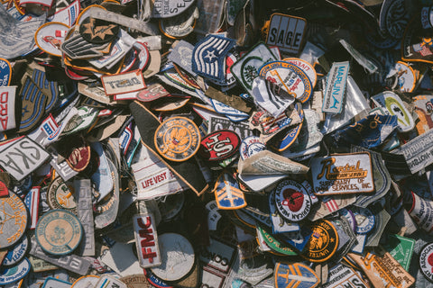 Custom Patches, heat sealed patches, iron on patches, Hook and Loop Patches. Credit: https://unsplash.com/photos/ZBadHaTUkP0