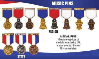 UIL Solo-Ensemble Pins