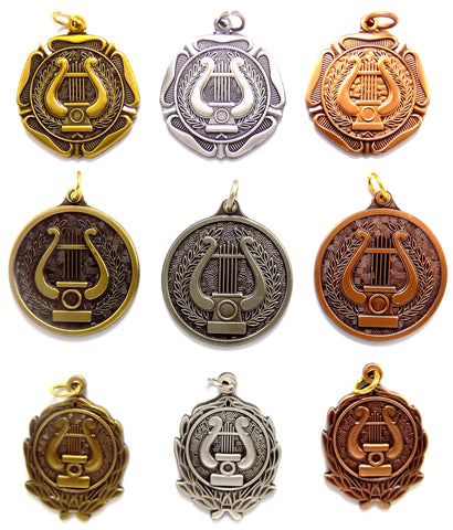 Music Lyre Medals