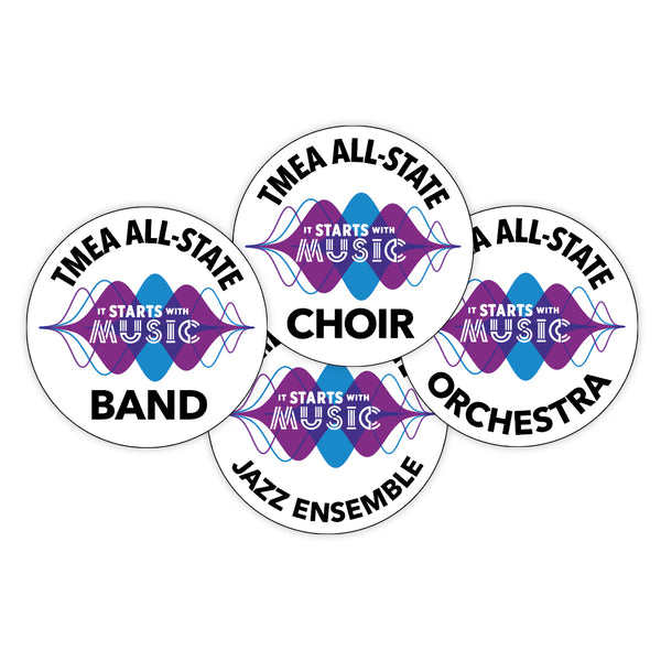 "TMEA All-State ""IT STARTS WITH MUSIC"" Decals"