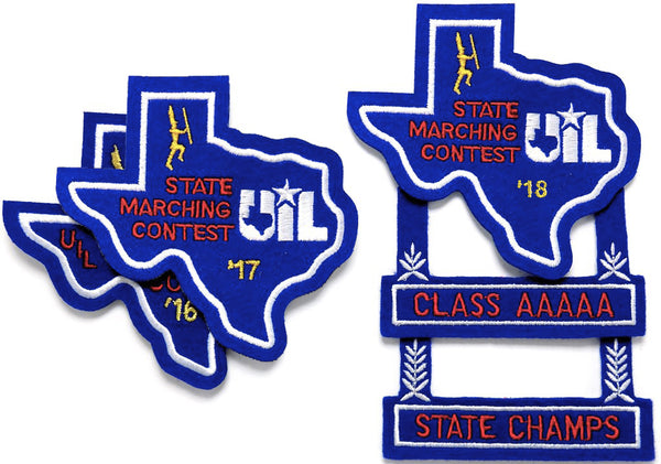 UIL State Marching Contest Patch & Attachments, 2018 and Prior