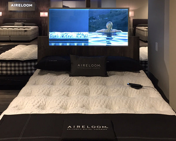 Custom LED Panel for Aireloom Mattress Display