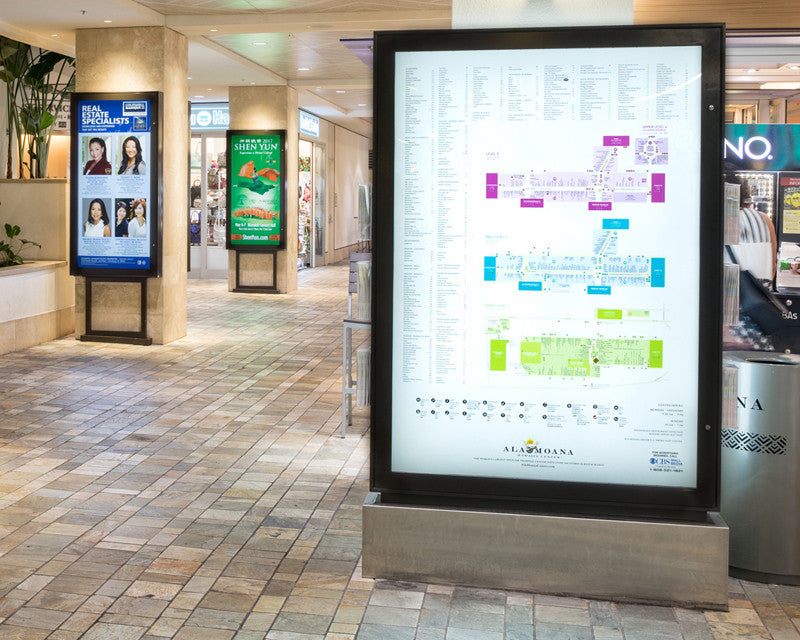Hidden Hinge LED Light Box Installation at Ala Moana Shopping Center