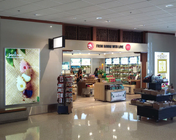 LED Light Box Installation at DFS Store, Honolulu Airport, Hawaii