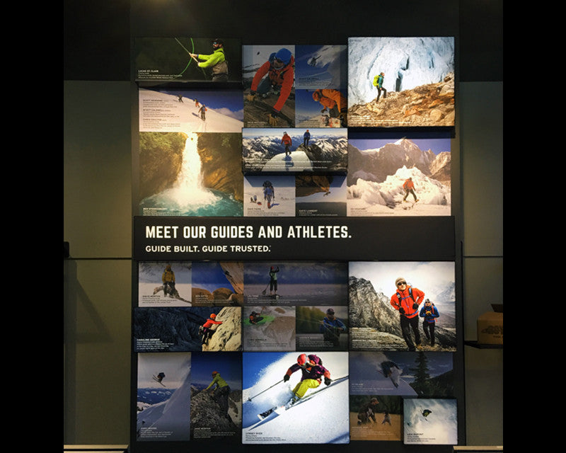 Backlit LED Frameless Fabric Light Boxes in Large Format Retail Display for Eddie Bauer
