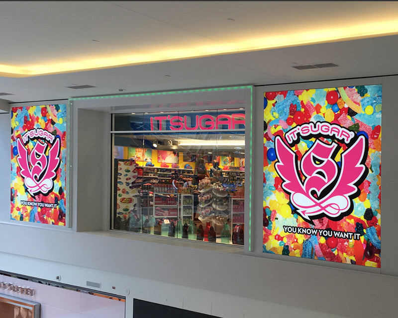 Large Format Frameless Fabric Light Boxes for Environmental Branding