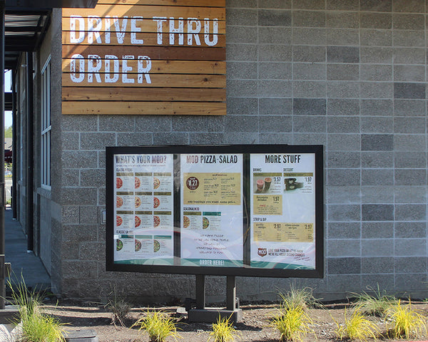 Drive Thru Menu System for MOD Pizza