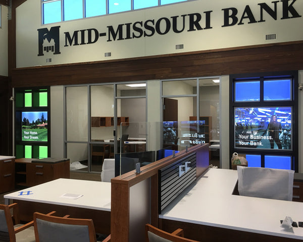 Premium LED Light Boxes at Mid-Missouri Bank