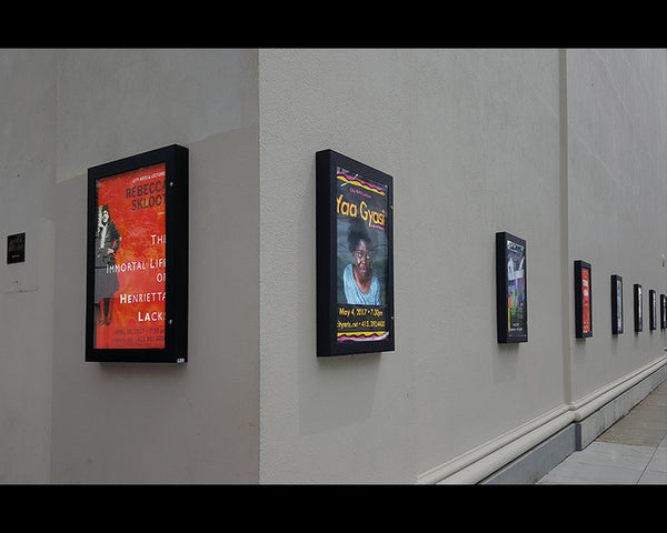 Outdoor Hidden Hinge LED Light Boxes at Nourse Theater in San Francisco