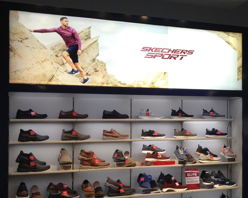 Interior Backlit LED Light Boxes for Retail Display
