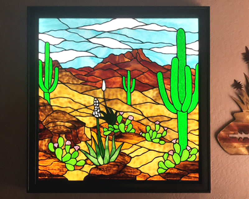 Stained Glass Illumination with LED Light Panel
