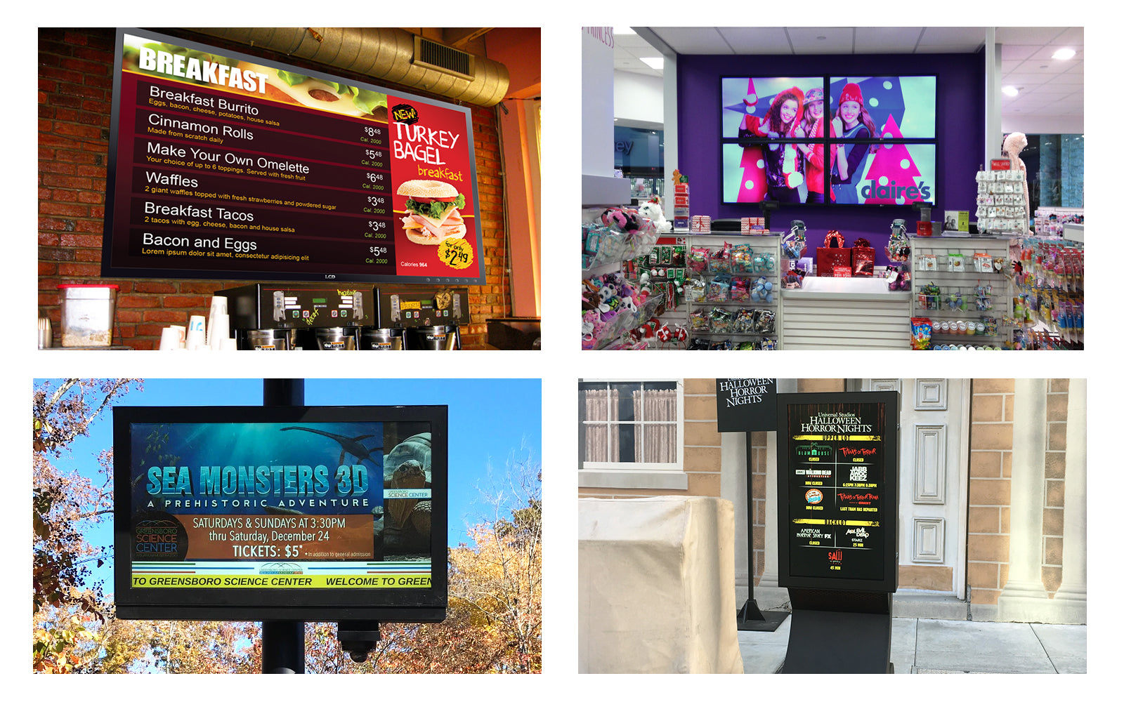Digital Signage Collage from DSA Phototech