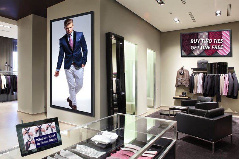 Clothing Store with Digital Signage