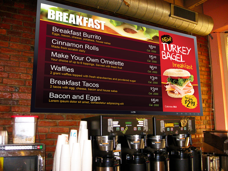 DSA Digital Menu Board with Design