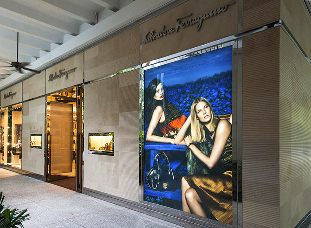 DSA custom design LED light box, Bal Harbour Shops