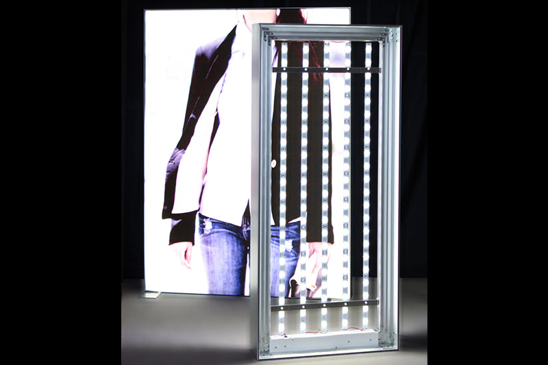 See our new Two Sided Frameless Fabric LED Light Box with Backlit