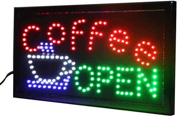 Coffee LED Storefront Sign