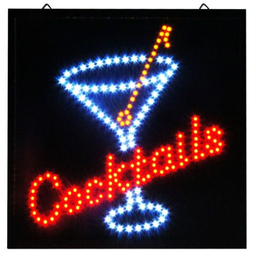 Cocktails LED Storefront Sign