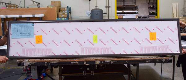 "NEW - 17"" x 84""  LED Edgelit Light Box in Bronze"