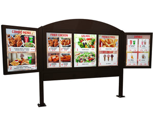 Menu Board Add Ons - Headers, Footers and Side Wings