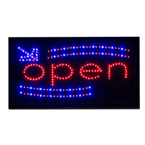 Open LED Storefront Sign